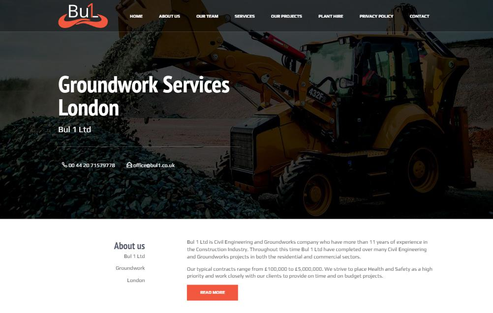 Engineering and Groundworks | Bul 1 Ltd